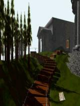 Myst Windows Mobile Library in distance - (Tall format)