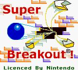 Super Breakout Game Boy Color Title Screen