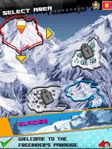 Avalanche Snowboarding J2ME There are four different areas