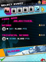 Avalanche Snowboarding J2ME Each event has a few objectives