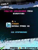 Avalanche Snowboarding J2ME New events are unlocked by collecting stars