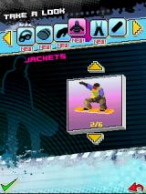 Avalanche Snowboarding J2ME New gear can be unlocked