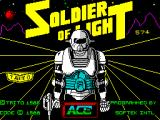 Soldier of Light ZX Spectrum This is the game's load screen. There's a countdown to indicate how fast the load is going