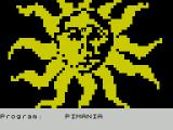 Pimania ZX Spectrum While the game loads this symbol is displayed. It flashes from yellow/black to black/yellow very fast
