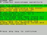 Super Spy ZX Spectrum It then sets the scene