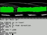 Circus ZX Spectrum Here's a road. It's the first real location in the game