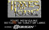 Times of Lore Amiga Title screen