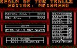 Realm of the Trolls Amiga Level editor main menu