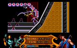 Strider Amiga Battling the centipede man boss
