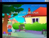 Timmy and the Magic Pictures Windows Title screen (french)
