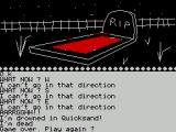 The Time Machine ZX Spectrum Bother! Guess this is a game where a map is needed to avoid pitfalls such as this