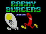 Barmy Burgers ZX Spectrum This screen displays while the game loads. There is no countdown indicator on this screen to give any idea how much longer the load will take