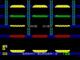 Barmy Burgers ZX Spectrum The first game was over very quickly before I had the keys worked out. I saw this screen a lot