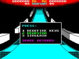 Roadwars ZX Spectrum The game supports Kempston, Sinclair & keyboard input. The documentation says that the keyboard action keys can be redefined