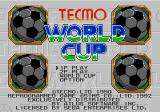 Tecmo World Cup Genesis Title screen