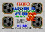 Tecmo World Cup Genesis Title screen of the Japanese release