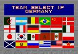 Tecmo World Cup Genesis Team selection