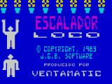 Escalador Loco ZX Spectrum The instructions are followed by the title screen