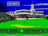 Royal Birkdale Championship Golf ZX Spectrum This screen is displayed as the game loads