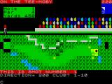Royal Birkdale Championship Golf ZX Spectrum Next the club is selected. If the player chooses an incorrect club the game will still play the shot but the ball will not move and the player is still charged with taking a stroke