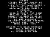 Ostron ZX Spectrum If the player opts to see the instructions they get a couple of screens of scrolling text and back-story