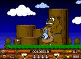 Beavers Amiga Final boss, the rabbit is back and he's brought a bear with him.
