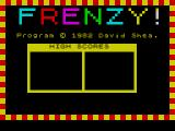 Frenzy ZX Spectrum The game loads and displays this screen where it pauses for a short while