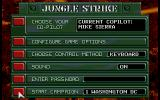 Jungle Strike DOS Main Menu