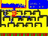 Humpty Dumpty in the Garden ZX Spectrum Humpty must be correctly positioned to be able to  open the taps