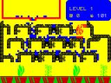 Humpty Dumpty in the Garden ZX Spectrum Plants start to grow at the bottom of the screen as the water reaches them