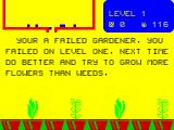 Humpty Dumpty in the Garden ZX Spectrum This is the 'Game Over' message