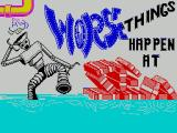 Worse Things Happen at Sea ZX Spectrum This screen displays as the game loads
