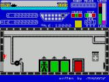 Worse Things Happen at Sea ZX Spectrum The game starts. The ship is in port and the journey's progress is shown on the top left of the screen