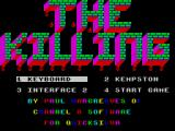 Strontium Dog: The Killing ZX Spectrum The player must next select their choice of controller. The text here scrolls through different colours to the accompaniment of an annoying electronic sound akin to a burglar alarm