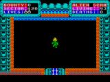 Strontium Dog: The Killing ZX Spectrum The game starts in a maze. Any contact with a blue wall means death (it's electro-charged or something). Doors open automatically though and there doesn't seem to be any need for keys