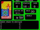 The Forest of Doom ZX Spectrum The game briefly shows the player their inventory