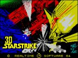 3D Starstrike ZX Spectrum The game's title screen ....