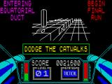3D Starstrike ZX Spectrum The next phase of the game is a trench run