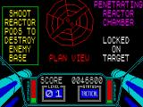3D Starstrike ZX Spectrum The next phase is to destroy the reactor