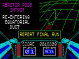 3D Starstrike ZX Spectrum Bother! The reactor is intact. Time to repeat the last section but with no guns and no shields.