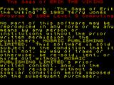 The Saga of Erik the Viking ZX Spectrum There then follows a copyright notice