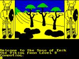 The Saga of Erik the Viking ZX Spectrum The colour is added later