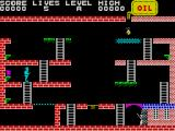 Turmoil ZX Spectrum The start of the game. Mic must take the oil can, left, to the source of the oil, top right