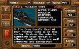 Jungle Strike DOS One of our info screens: Learn everything about your mission...