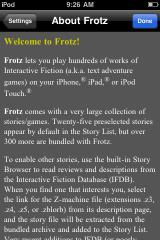 Frotz (included games) iPhone Information