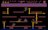 Trolls and Tribulations Atari 8-bit Level two, maze one brings buzzards into the cretin phase
