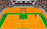 GBA Championship Basketball: Two-on-Two Amiga Ball thrown out of bounds