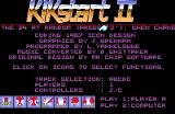 Kikstart 2 Amiga Game and option select