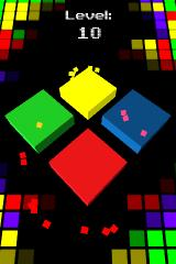 Cubo iPhone Each level sequence is highlighted by sprite effects