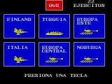 Mapsnatch ZX Spectrum The player has 22 armies in Finland, Italy, Turkey, Central Europe, Eastern Europe and Norway
